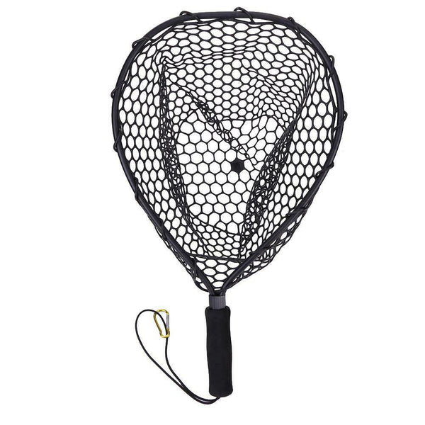 Fishing Net Aluminum Pole Retractable Telescoping Foldable Landing Rubber Net  &T8