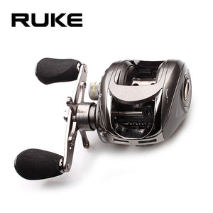 Ruke Fishing Reel Casting Reel Gear Ratio 5.1 :1 Aluminum Spool Magnetic Brake Bearing 5+1 EVA Knob 218g Max Drag 4.5KG