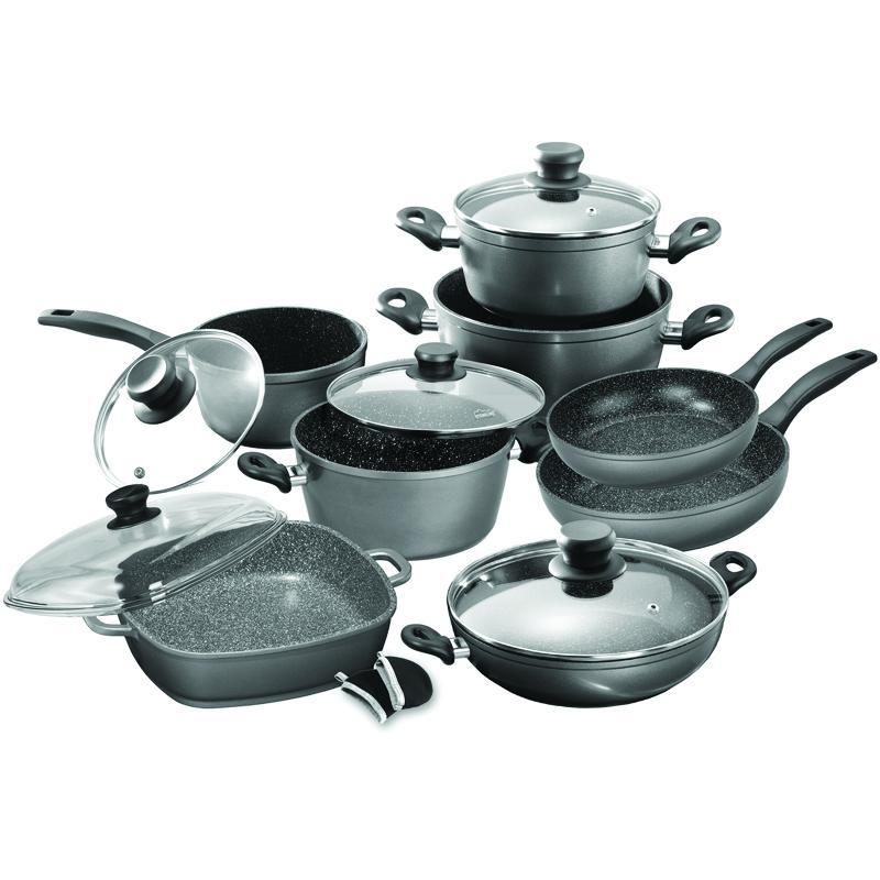 Stoneline® 13 Piece Cookware Set-Redfern.ent