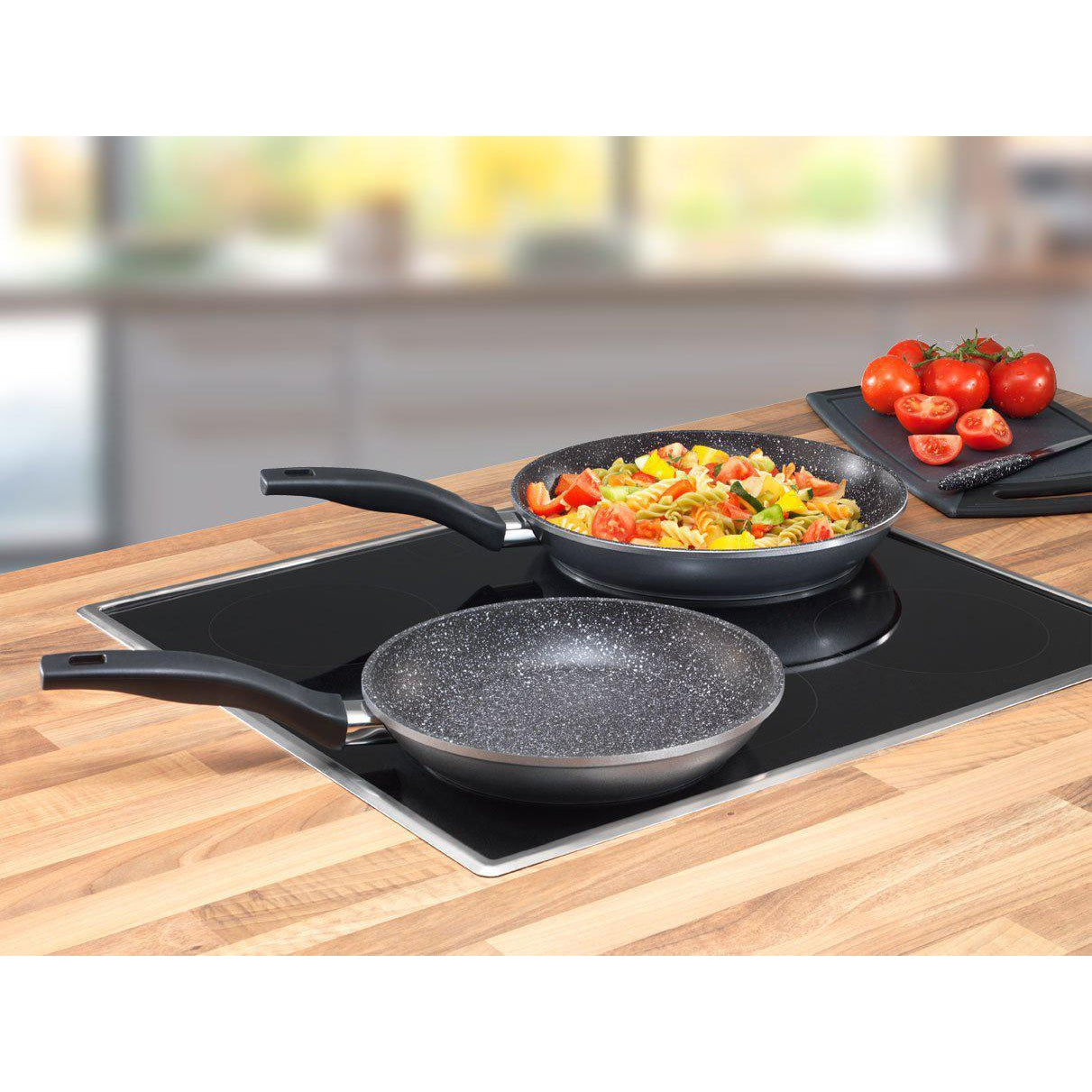 Stoneline® 2 Piece Frying Pan Set - portable heater