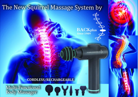 BackPlus® Pro 3 in 1 Massage Black