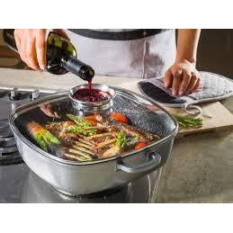 Stoneline® 28cm Square Pan with Aroma Lid - portable heater