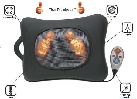 BackPlus® Hands On Active Massage Pad - portable heater