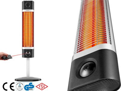 Veito® CH1500RE Standing Heater Black - Redfern.ent