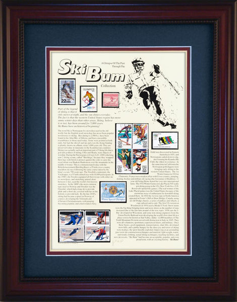 Ski Bum (Downhill) - Unique Framed Gift