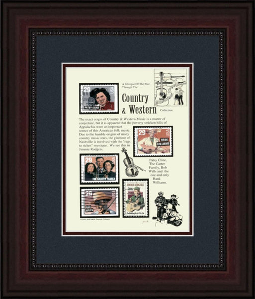 Country Western Music - Unique Framed Gift