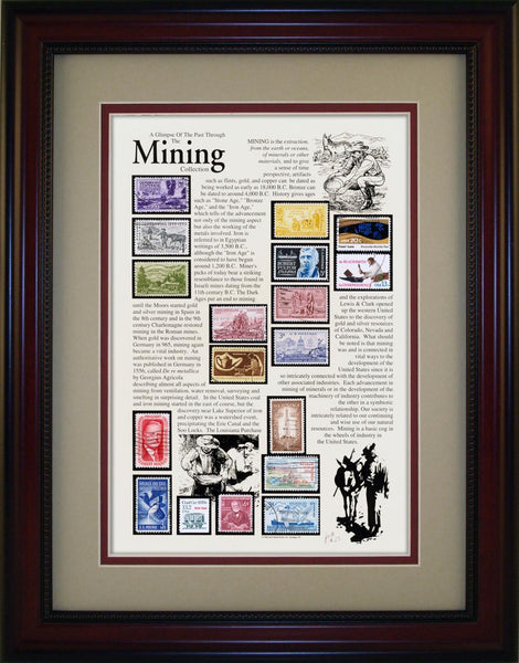Mining - Unique Framed Gift