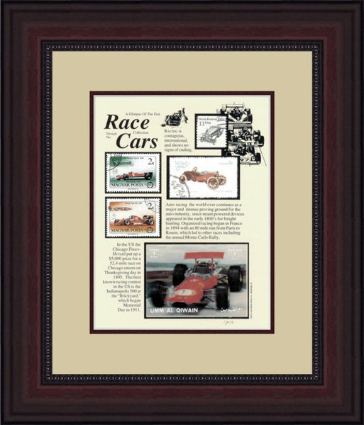 Race Cars - Unique Framed Gift