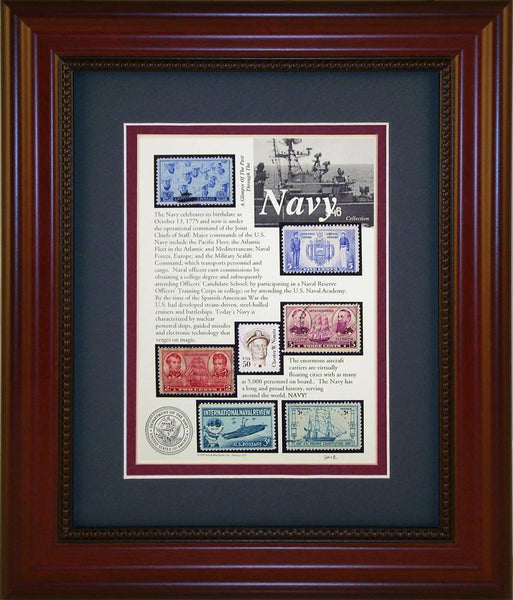 Navy - Unique Framed Gift