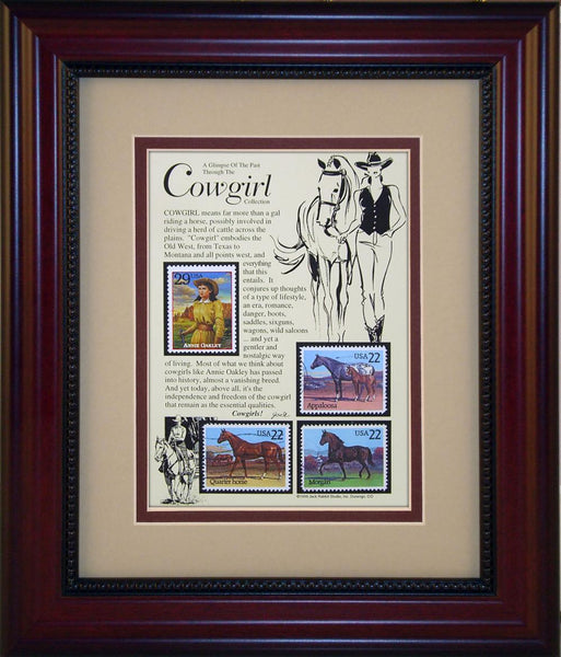 Cowgirl - Unique Framed Gift