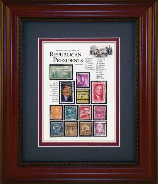 Republican Presidents - Unique Framed Gift