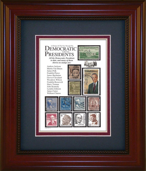 Democratic Presidents - Unique Framed Gift