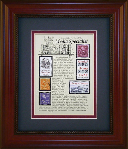 Media Specialist - Unique Framed Gift