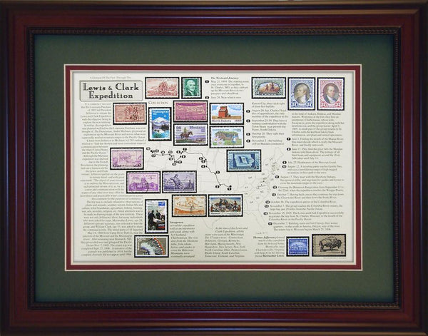 Lewis & Clark - Unique Framed Gift