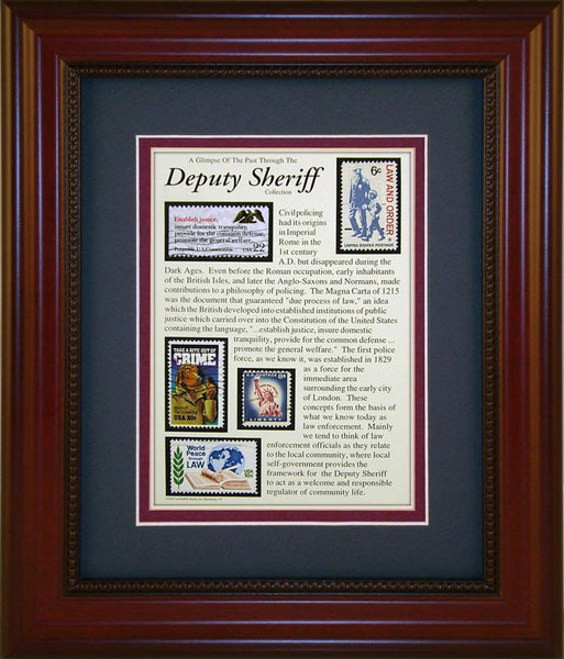 Deputy Sheriff - Unique Framed Gift