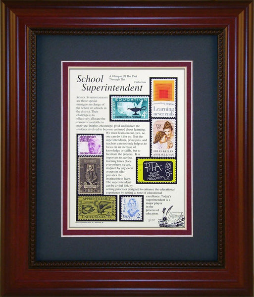 School Superintendent - Unique Framed Gift