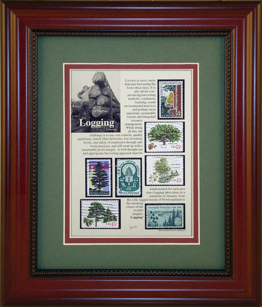 Logging - Unique Framed Gift