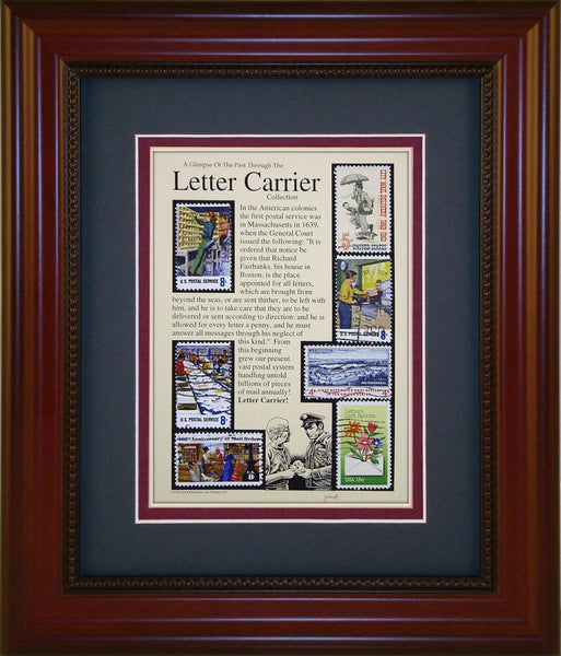 Letter Carrier - Unique Framed Gift