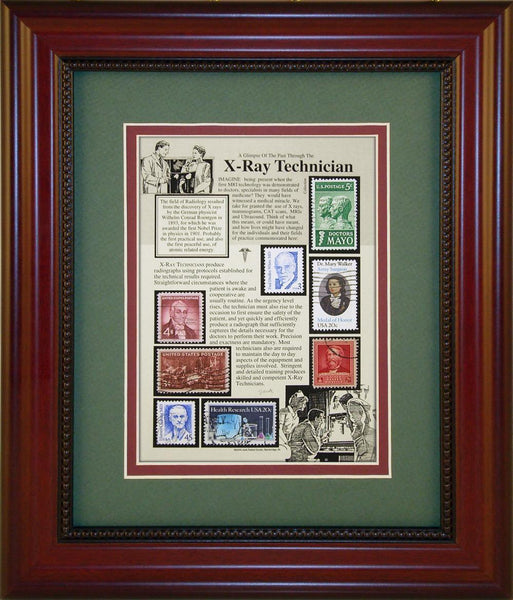 X- Unique Framed CollectibleRay Technician - Unique Framed Gift