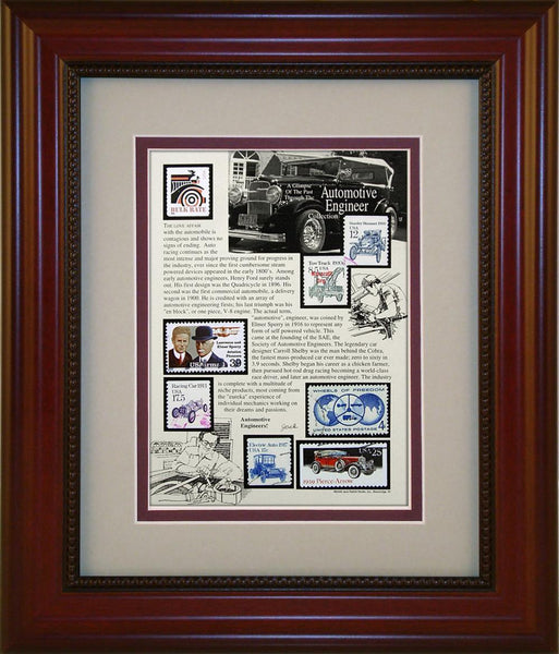 Automotive Engineering - Unique Framed Gift