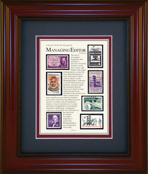 Managing Editor - Unique Framed Gift