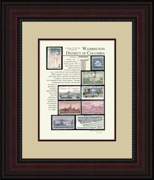 Washington District of Columbia - Unique Framed Gift
