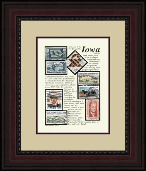 IOWA - Unique Framed Gift