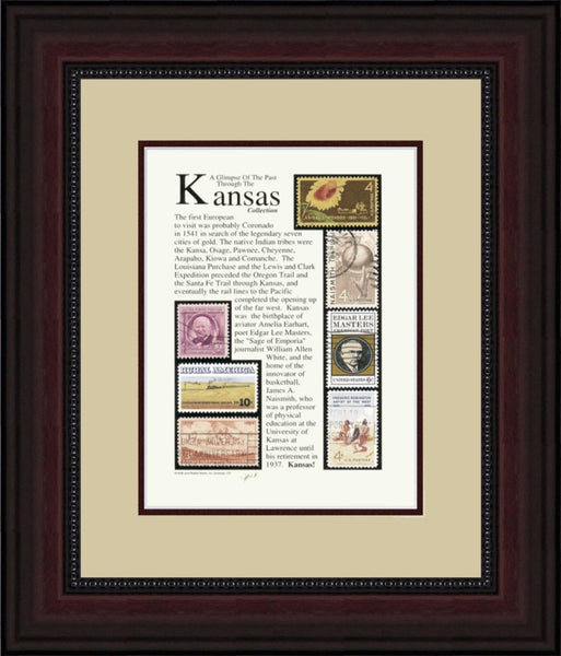 KANSAS - Unique Framed Gift