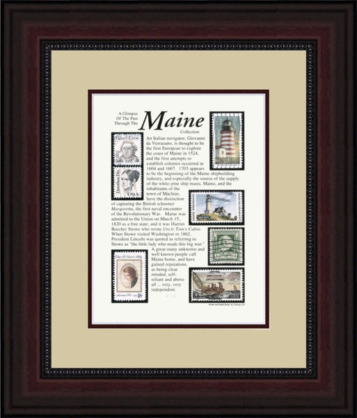 MAINE - Unique Framed Gift