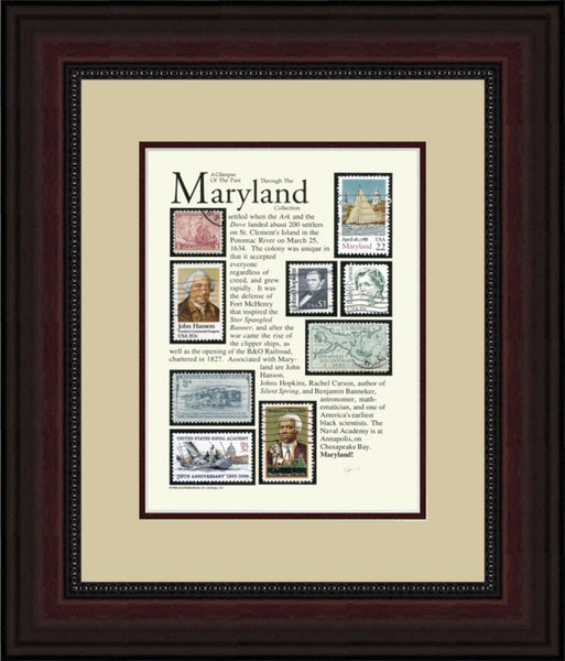 MARYLAND - Unique Framed Gift