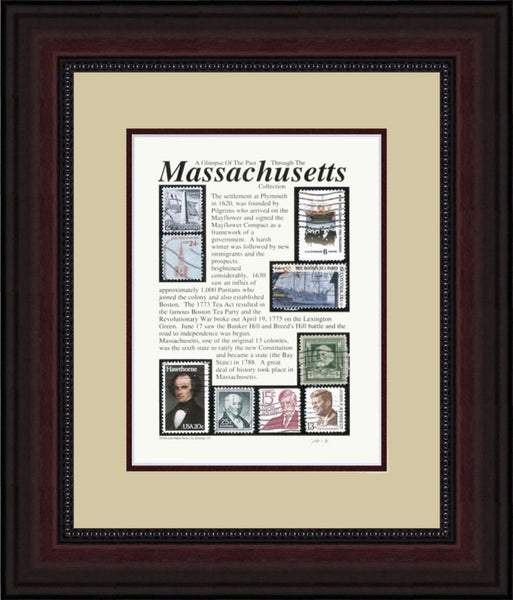 MASSACHUSETTS - Unique Framed Gift