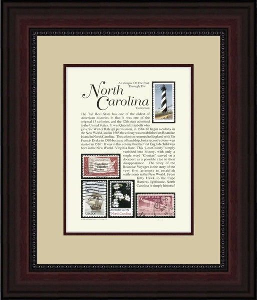 NORTH CAROLINA - Unique Framed Gift