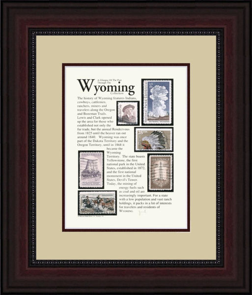 WYOMING - Unique Framed Gift