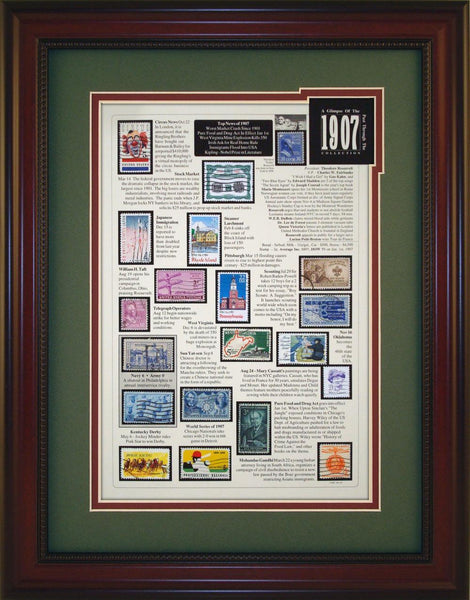 Year 1907 - Unique Framed Gift