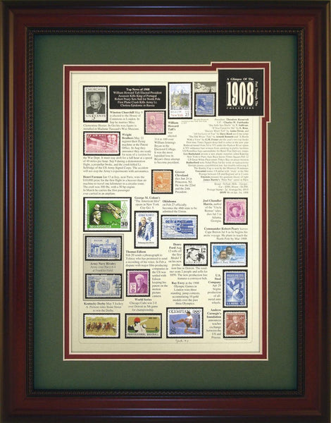 Year 1908 - Unique Framed Gift