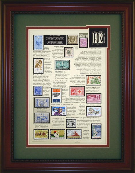 Year 1912 - Unique Framed Gift