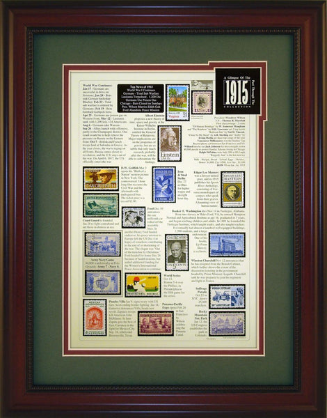 Year 1915 - Unique Framed Gift