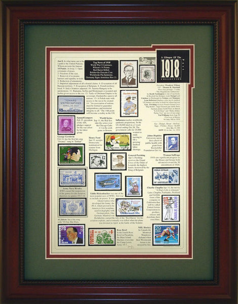 Year 1918 - Unique Framed Gift