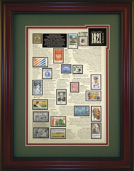 Year 1921 - Unique Framed Gift