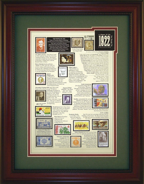 Year 1922 - Unique Framed Gift