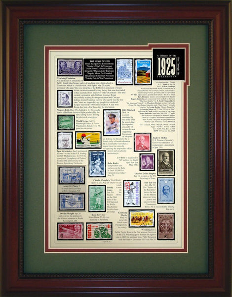 Year 1925 - Unique Framed Gift