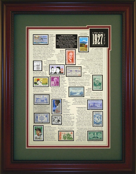 Year 1927 - Unique Framed Gift