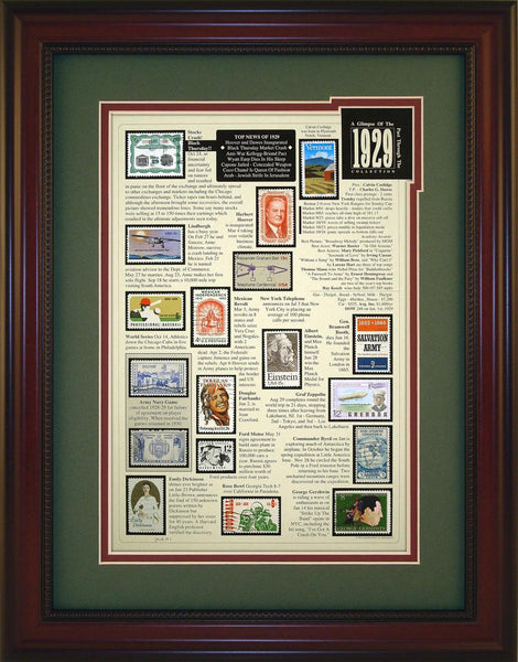 Year 1929 - Unique Framed Gift
