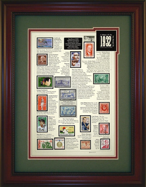 Year 1932 - Unique Framed Gift