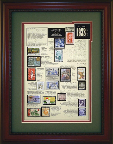 Year 1933 - Unique Framed Gift