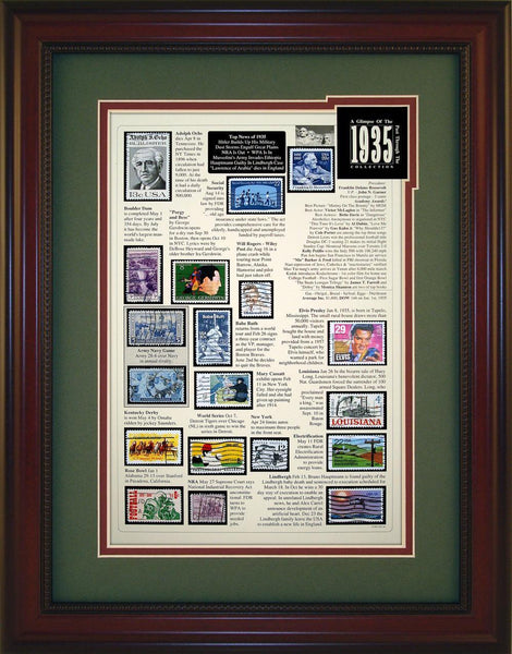 Year 1935 - Unique Framed Gift