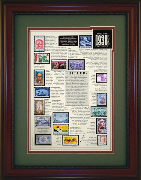 Year 1938 - Unique Framed Gift