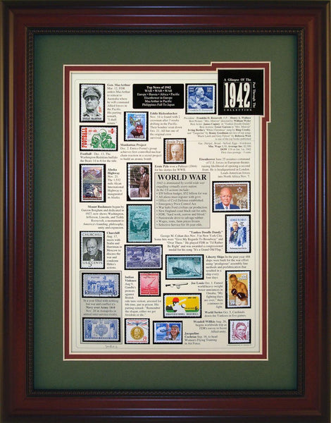 Year 1942 - Unique Framed Gift