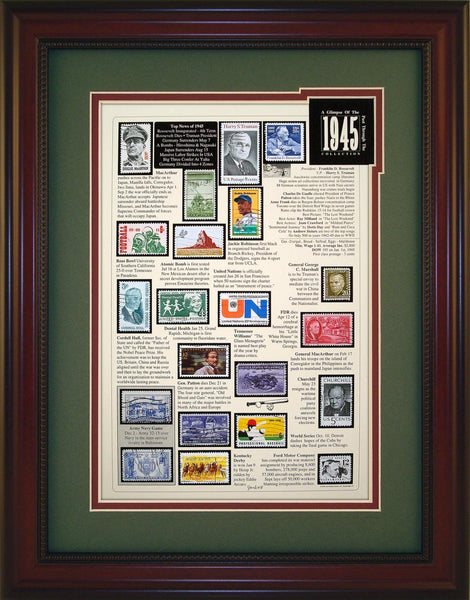 Year 1945 - Unique Framed Gift