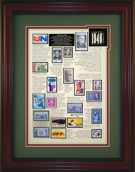 Year 1946 - Unique Framed Gift